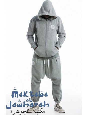 Ensemble Veste Jogging Evo Long Gris Chiné Épais 2016
